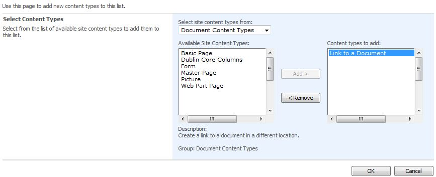 Adding a link in a sharepoint document library liam kerney for Document library content type